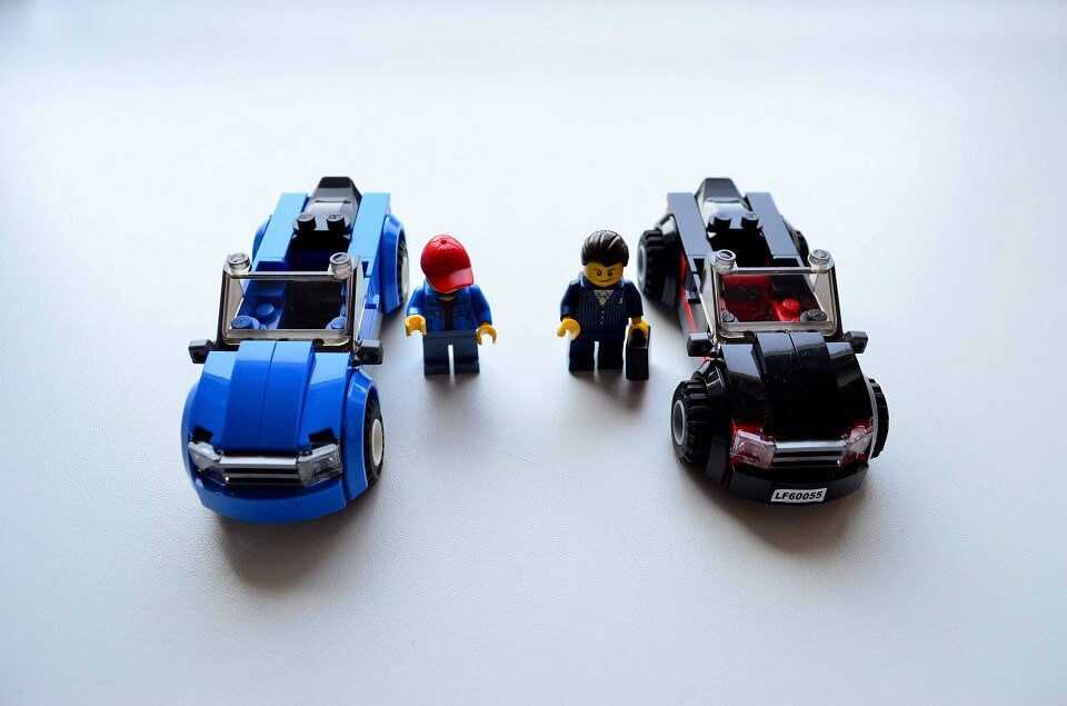 blue and black Lego Sports Cars